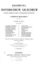 Fragmenta historicorum Graecorum: Apollodori bibliotheca cum fragmentis, Volume 4