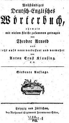 Vollst  ndig Deutsch Englisches W  rterbuch