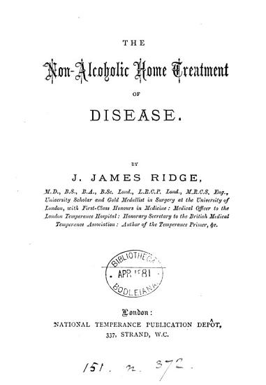 The Non alcoholic Home Treatment of Disease PDF