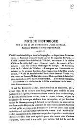 Notice historique sur la vie et les ouvrages de l'abbé Lourdet, professeur d'hébreu au collège royal de France