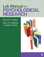 Lab Manual for Psychological Research: Edition 3