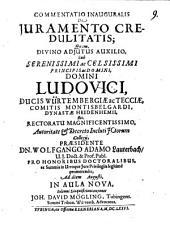 Commentatio inaug. de iuramento credulitatis