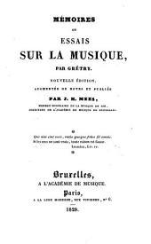 Mémoires: ou Essais sur la musique, Volume1