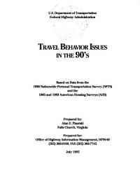 Travel Behavior Issues in the 90 s PDF
