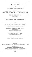 A Treatise on the Law and Practice Relating to Joint Stock Companies Under the Acts of 1862 1890 PDF
