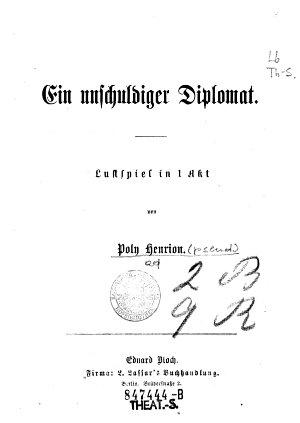 Ein    unschuldiger Diplomat PDF