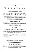 A Treatise Concerning The Fear Of God Scripturally Recommended Unto All People Etc