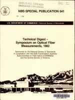Technical Digest  Symposium on Optical Fiber Measurements  1982 PDF