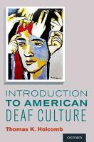 Introduction to American Deaf Culture PDF