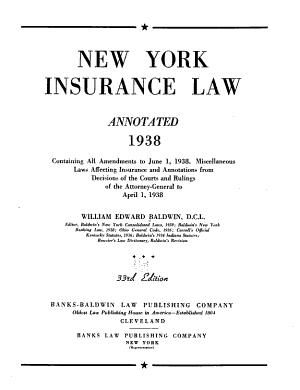 New York Insurance Law, Annotated