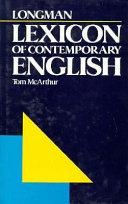 Longman Lexicon of Contemporary English PDF