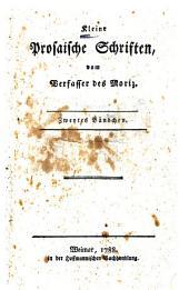 Kleine prosaisches Schriften: Band 2