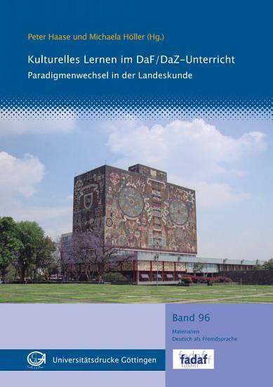 Kulturelles Lernen im DaF DaZ Unterricht PDF