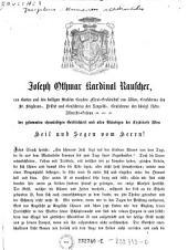Der gesammten ehrwürdigen Geistlichkeit und allen Gläubigen der Erzdiöcese Wien Heil und Segen vom Herrn! (Hirtenschreiben ... 17.2.1867.)
