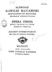 Opera omnia nvnc primvm in vnvm corpus coacta