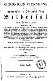 Chronicon viennense, oder, Neueröffneter österreichischer Bildersaal: Band 1