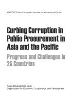 ADB/OECD Anti-Corruption Initiative for Asia and the Pacific Curbing Corruption in Public Procurement in Asia and the Pacific