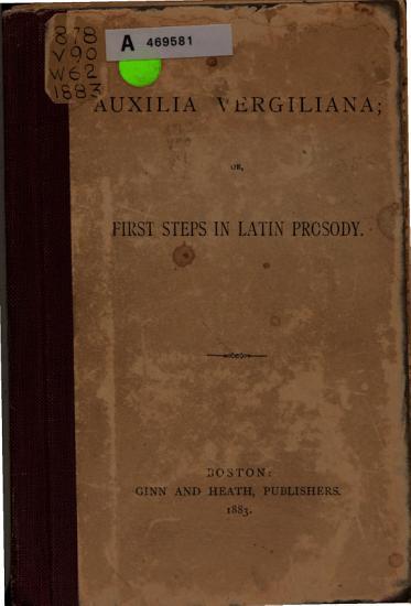 Auxilia Vergiliana PDF