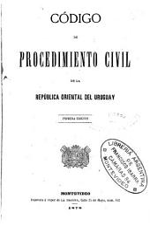 Código de procedimiento civil de la república oriental del Uruguay