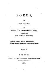 Poems,: In Two Volumes,