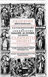 Proprium Missalis Ratisbonensis
