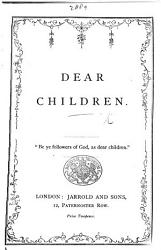 Dear Children In Verse  Book PDF