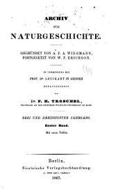 Archiv für Naturgeschichte: Band 33
