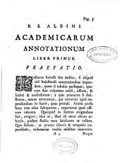 B. S.Albini Academicarum annotationum ; Liber primus