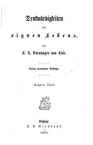 Ausgew  hlte Schriften von K A  Varnhagen von Ense     PDF