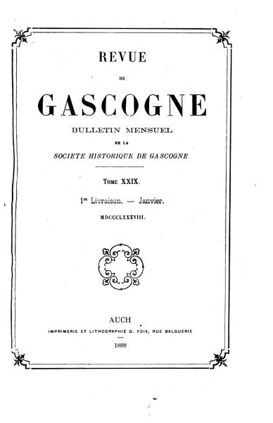 Download Revue de Gascogne Book