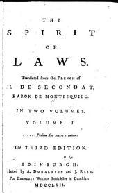 The Spirit of Laws: Volume 1