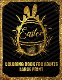 Easter Coloring Book For Adults Large Print