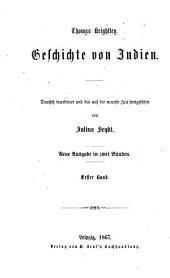 Geschichte von Indien: Bände 1-2
