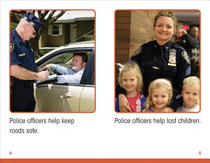 Police Officers Help Out