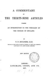 A Commentary on the Thirty-nine Articles: Forming an Introduction to the Theology of the Church of England
