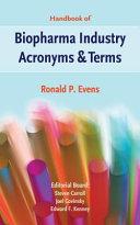 Handbook of Biopharma Industry Acronyms & Terms