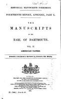 The Manuscripts of the Earl of Dartmouth PDF
