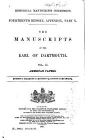 The Manuscripts of the Earl of Dartmouth: Part 2