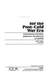 Defense Planning for the Post Cold War Era PDF