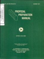 Proposal Preparation Manual  Proceedings of the Proposal Preparation Workshop for Minority Colleges  Atlanta  Georgia  September 30   October 1  1976  Final Report PDF