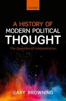 A History of Modern Political Thought PDF