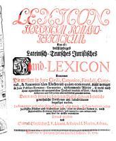 Lexicon Iuridicum Romano-Teutonicum