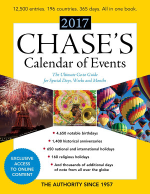 Chase s Calendar of Events 2017