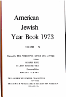 AMERICAN JEWISH YEAR BOOK 1973 VOLUME 74 PDF