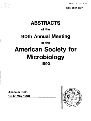 Abstracts of the Annual Meeting of the American Society for Microbiology PDF