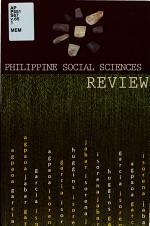 Philippine Social Sciences Review