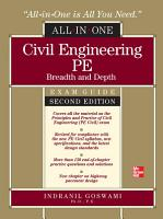 Civil Engineering All In One PE Exam Guide  Breadth and Depth  Second Edition PDF