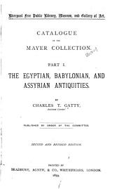 Catalogue of the Mayer Collection
