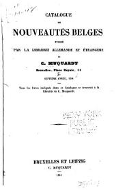 Bibliographie de la Belgique, ou catalogue général de l'imprimerie et de la librairie belges ...: Volumes7à11