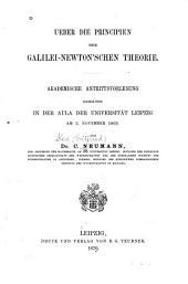 Ueber die Principien der Galilei-Newton'schen Theorie